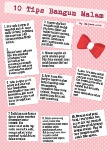 10 tips bangun malam